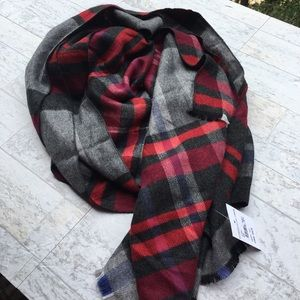 CHELSEA BY JOSEPH Nordstrom Plaid Blanket Scarf